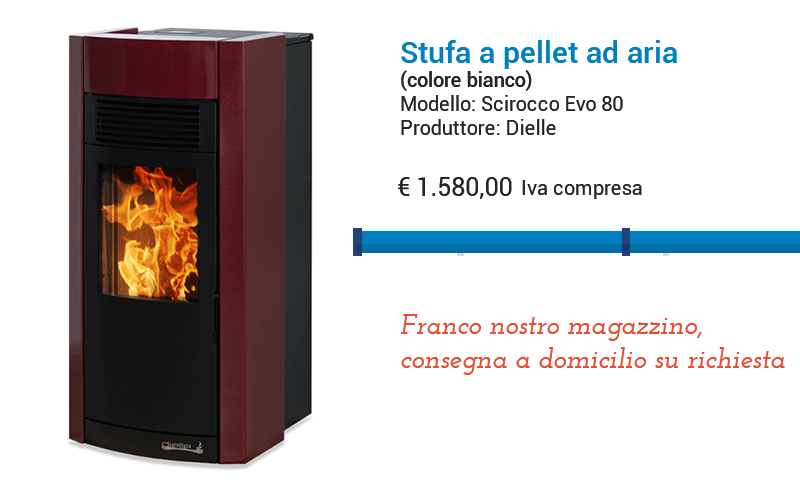 SciroccoEvo80 1 - Stufa a pellet in offerta fine stagione - ThermoIgienica s.r.l.